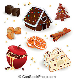 Vector Christmas Elements - Vector Illustration of Different...