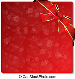 Vector Christmas glitter label with ribbon - EPS 10