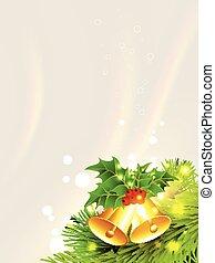 christmas golden bell