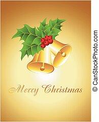 Vector Christmas golden Bells