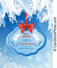 Vector Christmas greeting card
