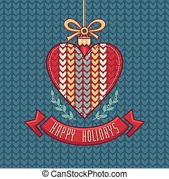 Vector. Christmas Greeting Card. Ornament decorate