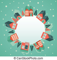Vector christmas greeting card - Vector greeting card with ...