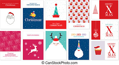 Vector Christmas Greeting Cards 1
