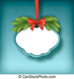 Vector Christmas Greeting Frame Card