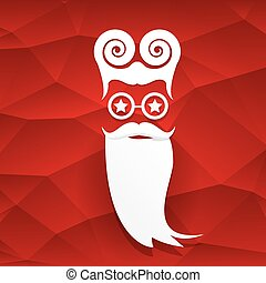vector Christmas hipster santa claus greeting card