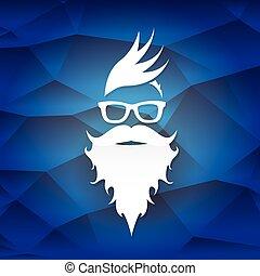 vector Christmas hipster santa claus greeting card - Santa...