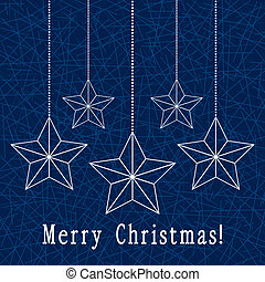 vector christmas holiday decoration with stars