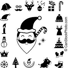 vector christmas icon set