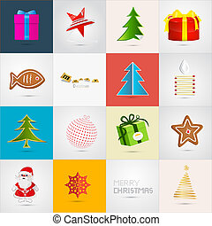 Vector Christmas Icons Set