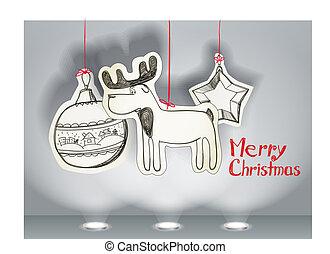christmas toys - Vector Christmas illustration of christmas ...