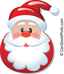 vector christmas illustration of santa claus