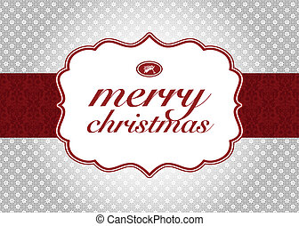 Vector Christmas Label and Background. Easy to edit. Perfect for labels, invitations or announcements.