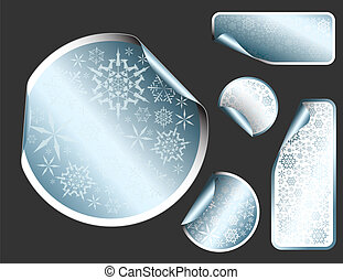 Vector Christmas labels and stickers