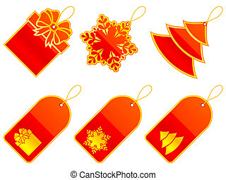 Vector Christmas labels.