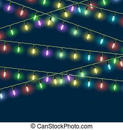 Vector Christmas lights
