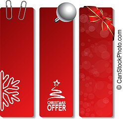 Vector Christmas offer banners - EPS 10