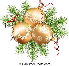 Vector Christmas Ornaments - Vector Christmas ornaments with...