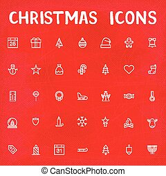 Vector Christmas Outline Icons