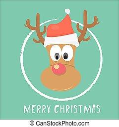 vector Christmas reindeer