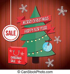 Vector Christmas Sale Illustration
