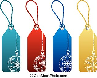 vector christmas sale tags