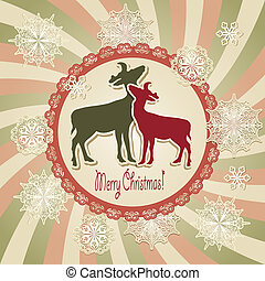 Vector Christmas Scrapbook Greeting Card