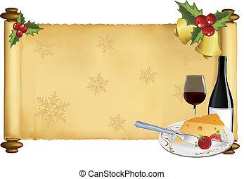 vector christmas scroll
