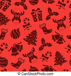 Vector Christmas seamless pattern