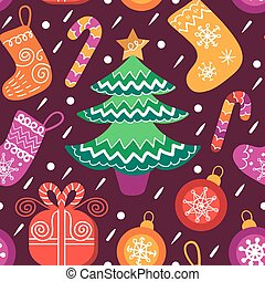 Vector Christmas seamless pattern. Happy Holidays illustration. Colorful New Year background. Nativity elements.