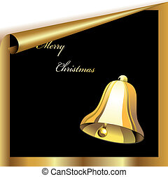 Vector christmas sheet with bell