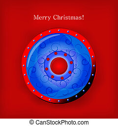 Vector Christmas shield for your design