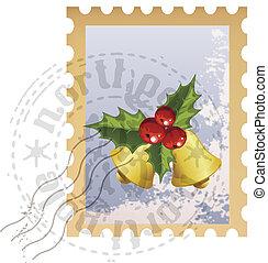 vector christmas stamp
