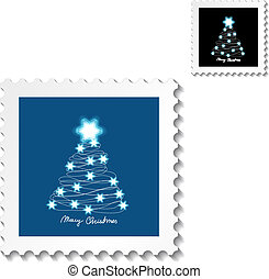 Vector Christmas stamps - EPS 10