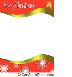 Vector christmas stationary wirh top and bottom christmas borders with room for a letter