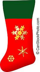vector Christmas stocking isolated on white background