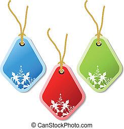 Vector Christmas tags