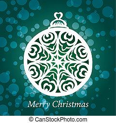 vector christmas toy snowflake handmade