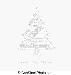 Vector christmas tree as digital electronic circuit