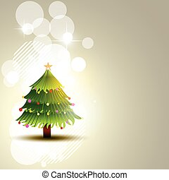 vector christmas tree background