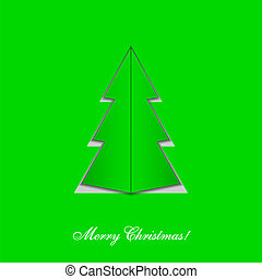 Vector Christmas tree. Eps 10