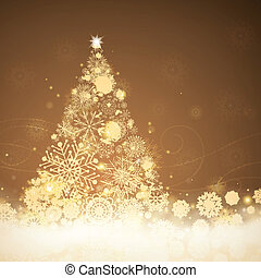 Vector Christmas Tree - Vector Illustration of a Stylized...