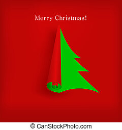 Vector Christmas tree for your design