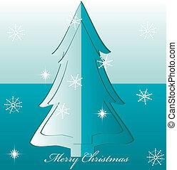 vector christmas tree illustration