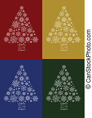 Vector Christmas Tree Set