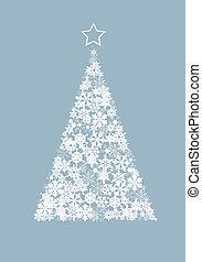 Vector Christmas tree - Vector illustration of a Christmas...