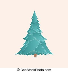 Vector christmas tree with realistic branches isolated