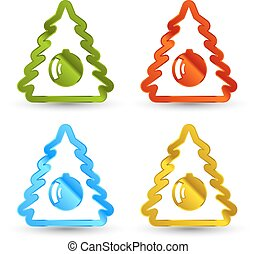 Vector Christmas trees icons