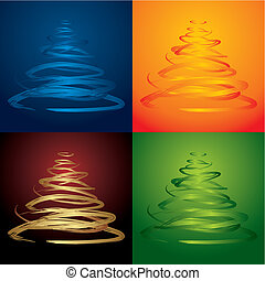vector christmas trees - see more in my portfolio