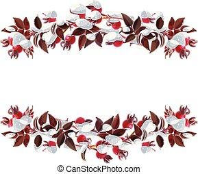 vector Christmas wreath border